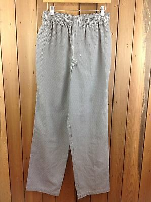 UniVogue Checkered Chef Pants Elasticated Waist ~ Size Small