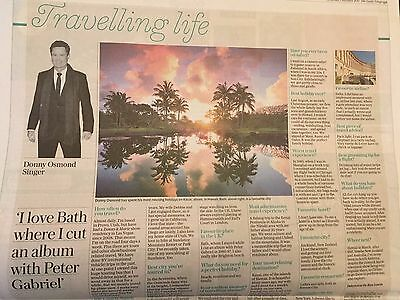 Telegraph Travel Supplement January 2017 Donny Osmond interview