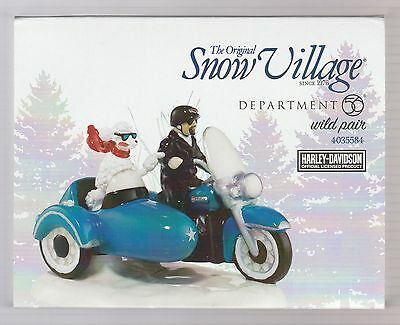 Department 56 Snow Village Harley Davidson Wild Pair 4035584