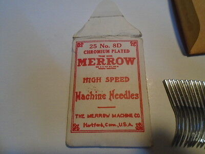 MERROW 25 NEEDLES no: 8D CHROMIUM PLATED for HIGH SPEED MACHINE FREE SHIPPING