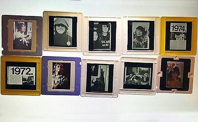 35mm John Lennon. Rare vintage slides of the legendary participant of theBeatles