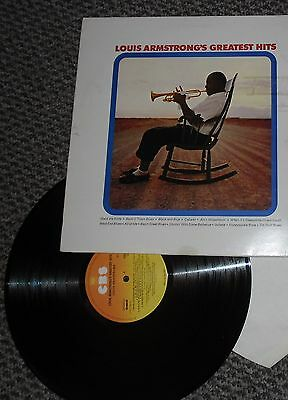 LOUIS ARMSTRONG GREATEST HITS 1971 UK STEREO LP vinyl superb