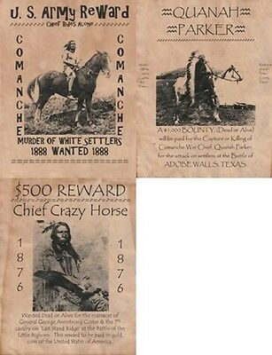 Rides Alone,crazy Horse,quanah Parker, ~Indian,old West,wanted,poster