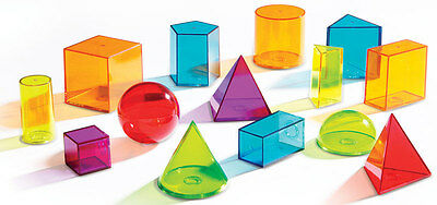 Learning Resources View-Thru Colourful Geometric Shapes Set of 14 - NEW