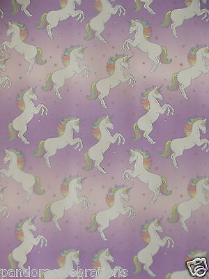 x/large 1m sheet unicorn gift wrapping paper- ( NEW IN ) birthday