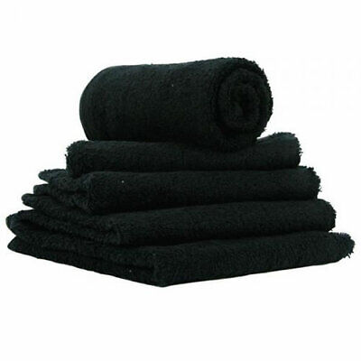HAIRTOOLS TOWELS BLEACH PROOF BLACK Set of 12