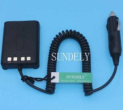 Car Radio Battery Eliminator+ Charger Adaptor for Kenwood TH-FTE TH-F6 TH-F7E UK