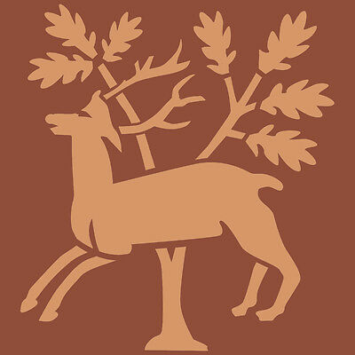 Stag In Woods Deer Stencil A5 Re-Usable Shabby Chic Airbrush Paint Craft 084 BOX