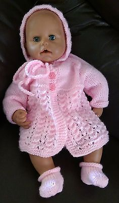 "Hand Knitted Dolls Clothes to fit 18""-19"" Doll, Baby Annabell or similar"