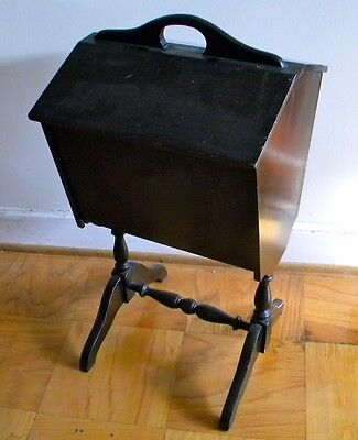 Antique Wood Sewing Cabinet Box Floor Stand