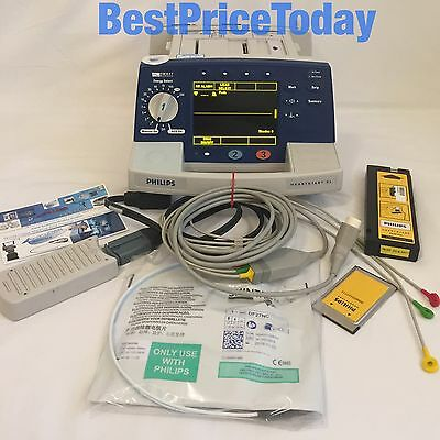 Philips Heartstart XL Smart Biphasic Defib ECG Option Lead Paddle Lead Soft Pads