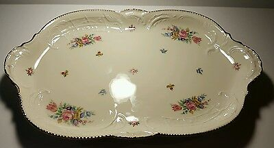 rosenthal sanssouci serving sandwhich plate floral pattern