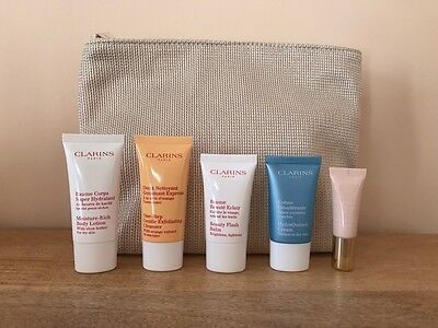 Clarins Gift Set - Body Lotion, Cleanser, HydraQuench Cream & Bag - BRAND NEW