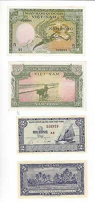South Vietnam   Pair   2 Dong And 5 Dong Both Nice Unc