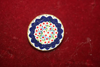 Micro mosaic round brooch