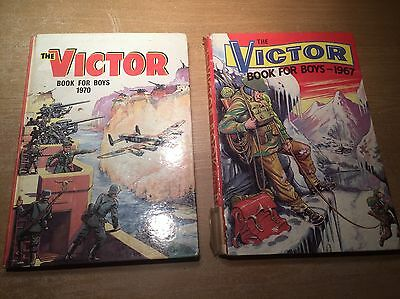 The Victor Book For Boys Annuals 1967 & 1970