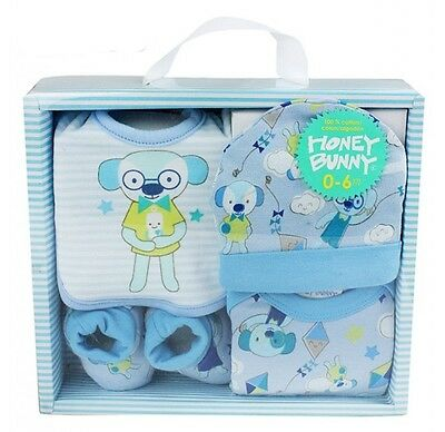New Baby Boys Gift Set 5 Piece Outfit Newborn Baby Shower Present Xmas Gifts