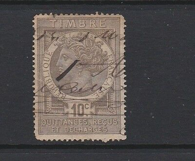 France. Revenue stamp. Late 19th century