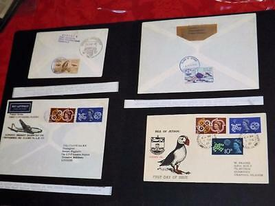 Jethou-3 Good Unusual First Flight Covers-Jethou+Gb Stamps +Puffin Cover-2