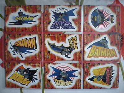 """2005 Batman Animated: Season 1 MAGNET """"Complete Set"""" of 9 Chase Cards (1-9)"""