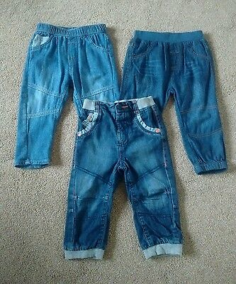 3 pairs of baby boy jeans, all 12-18 months