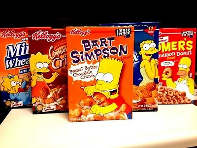 5 unopened boxes of The Simpsons Cereal 74.5 oz