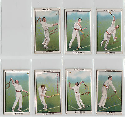 7 GALLAHER CARDS: SPORTS SERIES Tennis 1912