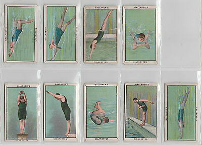 9 GALLAHER CARDS: SPORTS SERIES Swimming 1912