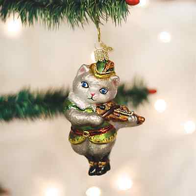 *Cat and Fiddle* Story Rhyme [12451] Old World Christmas Glass Ornament - NEW