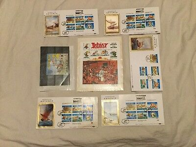 A Collection Of Asterix The Gaul Stamps & FDC (Guernsey, France, Belgium)