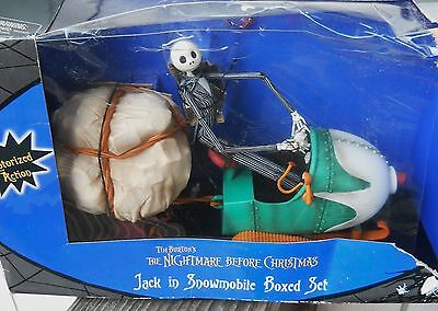 New Nightmare Before Christmas Jack In Snowmobile Motorized Action, Box Damaged