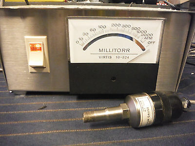 Virtis Millitorr Vacuum Gauge w/ thermocouple 15335 / 10-324PT Phase 1