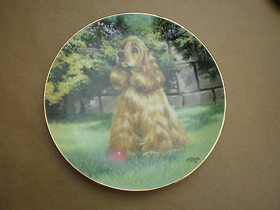 LIMITED EDITION PLATE from THE HAMILTON COLLECTION - MAN'S BEST FRIEND