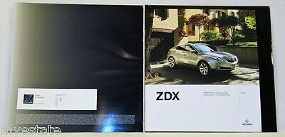 2012  12  Acura  ZDX  original sales  brochure MINT
