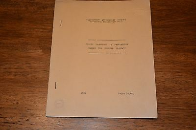 Walthamstow Transport 1962 Report  Before The Tramways Ref X17