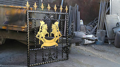Wrought Iron Gate Rearing Horse design Single Or Drive