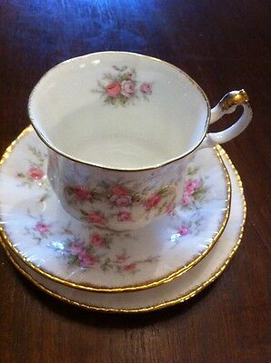 Vintage Paragon Victoriana Rose Cup/saucer/plate Trio