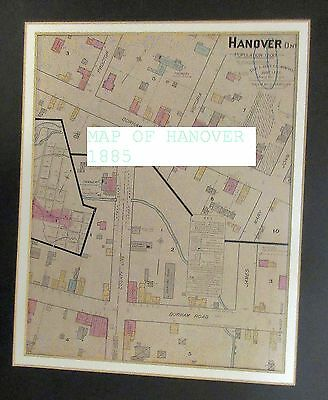 HANOVER ONTARIO 1885 Main Street Map Durham Road and County Line