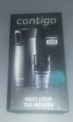 Contigo West Loop TEA INFUSER with Drip Cup - Greyed Jade - NEW