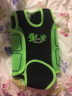 Baby Wetsuit 6-12 Months TWF Turtle Back And Green Unisex