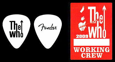 Guitar Pick - The Who - Pete Townshend - Real Tour Pick & Backstage Pass!