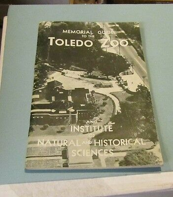 1949 Toledo Zoo 50th Anniversary Guide Book Ohio Animals Photos Information 72pg