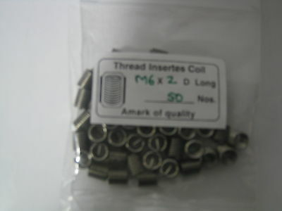 M6 -1.0 X 2D  Thread Inserts Helicoil Type (50 Qty)