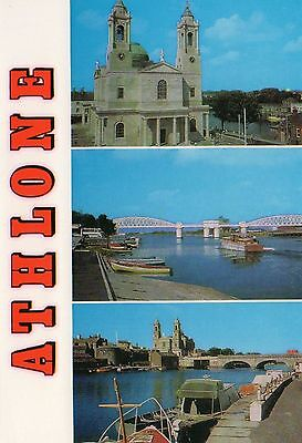 ATHLONE CO. WESTMEATH IRELAND IRISH POSTCARD by CARDALL LTD No.433