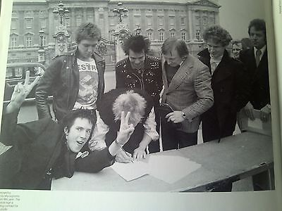 Sex Pistols Johnny Rotten Signing to A&M at Palace 1977 Music Mag 23x17cm Punk