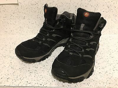 Merrell Moab Mid GTX Mens Walking Boots In Black Size 9