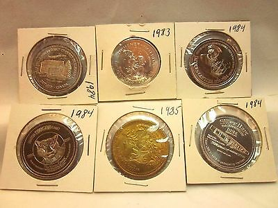 6 Different Trade Dollars  So-Called Dollar  Good For $1.00 Trade Dollar  Tokens