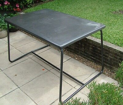 French Vintage Metal Outdoor Table