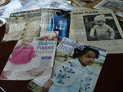 Childs Knitting Patterns out of magazine Selection of Cardigans and jumpers