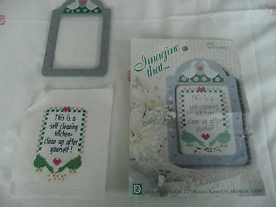 Cross Stitch 1 embroidered with front frame no back 1 chart to do more no thread